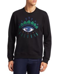 KENZO - Embroidered Eye Graphic Pullover - Lyst