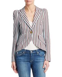 Smythe - Striped One-button Blazer - Lyst