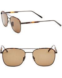 Ferragamo - 56mm Aviators Sunglasses - Lyst