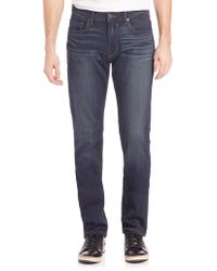 PAIGE - Federal Transcend Slim Fit Jeans - Lyst