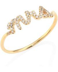 Sydney Evan | Mrs. Diamond & 14k Yellow Gold Ring | Lyst