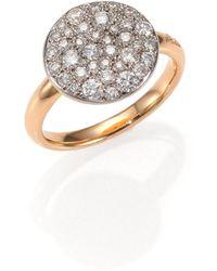 Pomellato - Sabbia Diamond & 18k Rose Gold Ring - Lyst