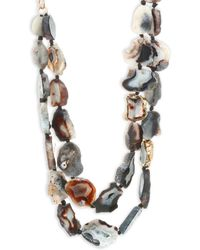 Nest | Agate Double Necklace | Lyst