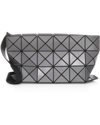 8a50fa57ce Bao Bao Issey Miyake - Men s Lucent Matte Crossbody Bag - Charcoal Grey -  Lyst