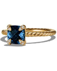 David Yurman - Châtelaine Ring With Gemstone And Diamonds In 18k Gold - Lyst