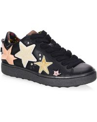 COACH - Leather Lace-up Low Top Sneakers - Lyst
