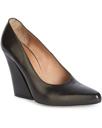Dries Van Noten | Leather Wedge Pumps | Lyst