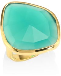 Gold Siren Nugget Cocktail Ring Green Onyx Monica Vinader wUyUPC08Wx