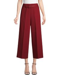 BOSS - Cropped Wide-leg Trousers In Bonded Micro Fabric - Lyst