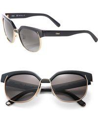 Chloé - Dafne 57mm Square Sunglasses - Lyst