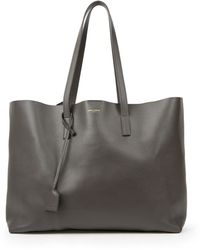 Saint Laurent - Large Leather Shopping Tote - Lyst