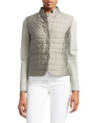 Fabiana Filippi - Jersey Sleeve Puffer Jacket - Lyst