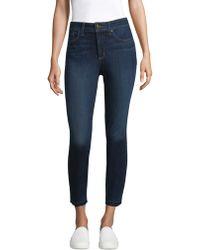 NYDJ - Frayed Skinny Jeans - Lyst