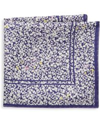 Hook + Albert - Floral Silk Pocket Square - Lyst