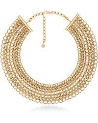Michael Kors - Haute Hardware Goldtone Statement Collar Necklace - Lyst