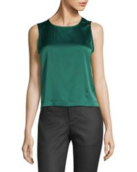 Eileen Fisher - Stretch Silk Shell Top - Lyst