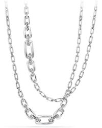 David Yurman - Diamonds & Sterling Silver Chain Necklace - Lyst