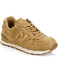 New Balance - 574 Suede Brogue Sneakers - Lyst