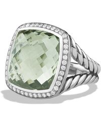 David Yurman Albion Ring With Prasiolite And Diamonds - Metallic
