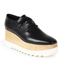 Stella McCartney - Faux Leather Platform Oxfords - Lyst