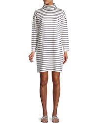 Vineyard Vines - Striped Funnelneck Cotton Dress - Lyst