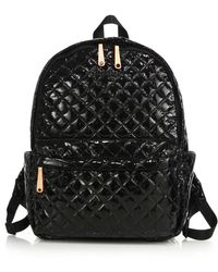 MZ Wallace - Metro Lacquered Quilted Nylon Backpack - Lyst