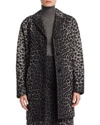 Dior - Cotton Twill Leopard Print Coat - Lyst