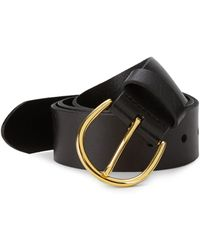 FRAME - Leather Buckle Belt - Lyst
