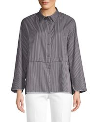 Piazza Sempione - Striped Poplin Shirt Jacket - Lyst