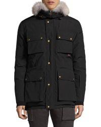 Belstaff   Roadmaster Fur-trim Down Jacket   Lyst