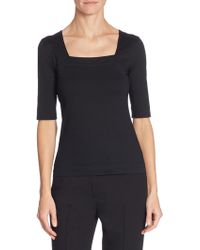 Akris Punto - Elements Jersey Square Neck Top - Lyst