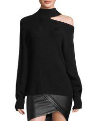 RTA - Langley Cutout Knit Sweater - Lyst