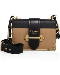 2febfae94d53 Prada - Cahier Notebook Leather Shoulder Bag - Lyst