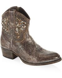 Frye - Deborah Studded Leather Boots - Lyst