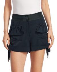 Carven - Wool Ruffle Shorts - Lyst