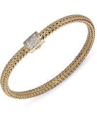 John Hardy | Classic Chain Diamond & 18k Gold Extra-small Bracelet | Lyst