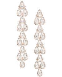 Adriana Orsini - Teardrop Crystal Linear Earrings - Lyst