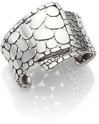 John Hardy - Kali Sterling Silver Overlap Cuff Bracelet - Lyst