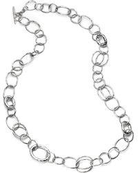 Ippolita - Glamazon Sterling Silver Bastille Element Link Chain Necklace - Lyst