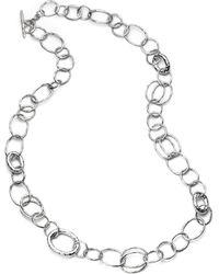 Ippolita - Women's Glamazon Sterling Silver Bastille Element Link Chain Necklace - Silver - Lyst