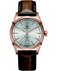 Hamilton - Timeless Classic Spirit Of Liberty Auto Rose-goldtone Stainless Steel & Leather Strap Watch - Lyst