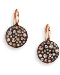 Pomellato | Sabbia Brown Diamond & 18k Rose Gold Drop Earrings | Lyst