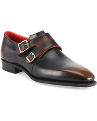Corthay - Arca Double Monk-strap Leather Shoes - Lyst