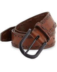 Saks Fifth Avenue - Collection Stitched Edge Leather Belt - Lyst