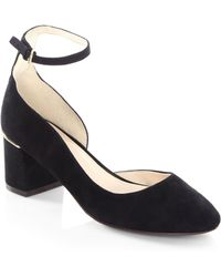Cole Haan - Warner Suede Closed Toe Court Shoes - Lyst