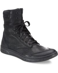 DIESEL - S-boulevard Leather Ankle Boots - Lyst