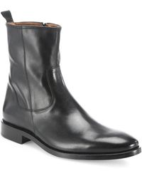 Saks Fifth Avenue - Leather Ankle Boots - Lyst