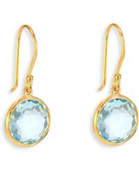 Ippolita - Lollipop London Blue Topaz & 18k Yellow Gold Mini Drop Earrings - Lyst