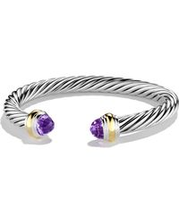 David Yurman - Cable Classics Bracelet With Amethyst And Gold - Lyst