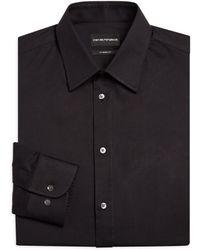 Emporio Armani - Basic Stretch Modern-fit Dress Shirt - Lyst